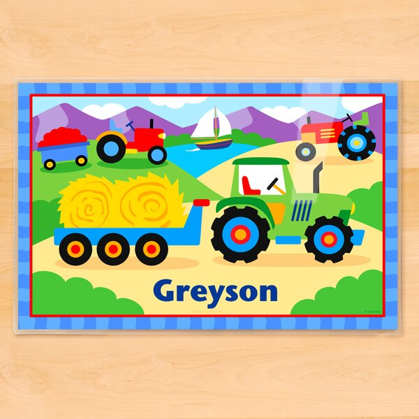 Tractor Personalized Placemat by Olive Kids