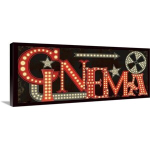 Movie Lights I Vintage Advertisement on Wrapped Canvas by Great Big Canvas