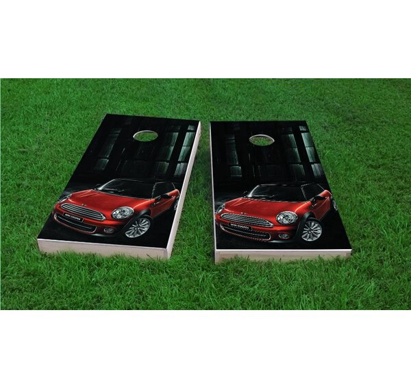 Mini Cooper Light Weight Cornhole Game Set by Custom Cornhole Boards