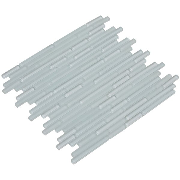 Mahi 12 x 12 Glass Mosaic Tile in White by Mirrella