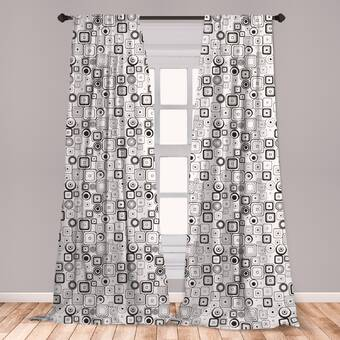 Sixties Curtains 2 Panel Set for Decor 5 Sizes Available Window Drapes