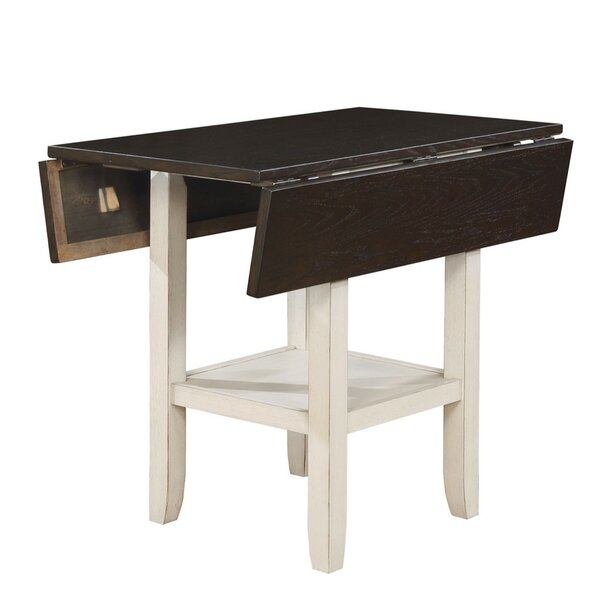 Darvell Dual Tone Solid Wood Pub Table by Rosalind Wheeler
