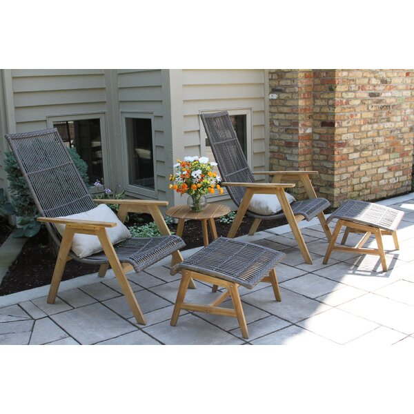 Largent Teak Patio Chair with Cushions by Mistana