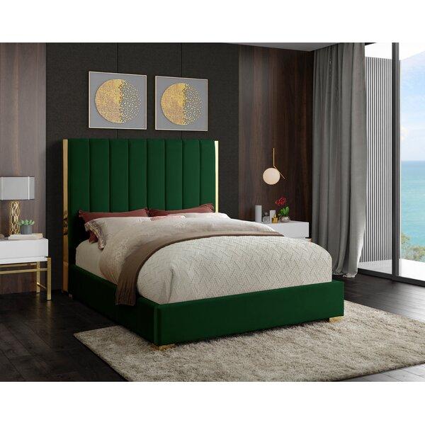 Aeliana Velvet Upholstered Platform Bed by Mercer41