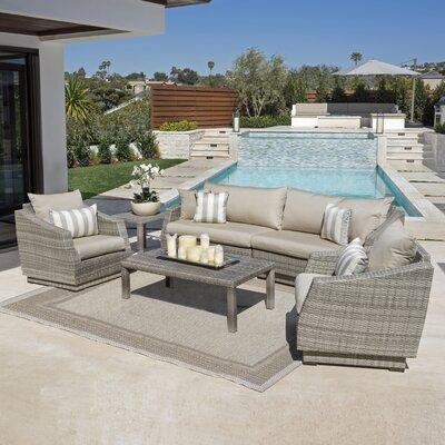 Wade Logan Sofa Set Sunbrella Cushions Fabric Seating Groups