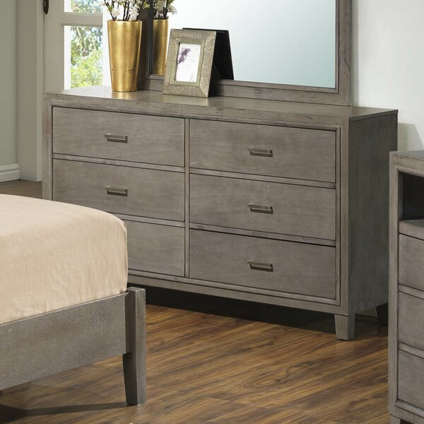 Weatherspoon 6 Drawer Double Dresser by Charlton Home