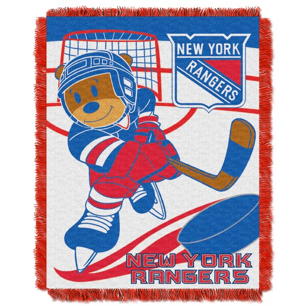 NHL Rangers Baby Woven Throw Blanket by Northwest Co.