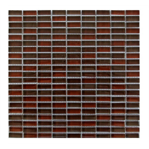 Epiphany 0.5 x 1.25 Glass Mosaic Tile in Red by Abolos