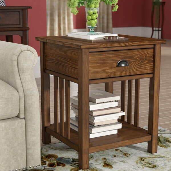 Fairfax End Table by Alcott Hill