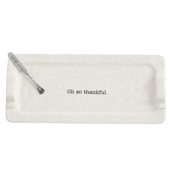 Circa 2 Piece Oh So Thankful Hostess Tray Platter Set by Mud Pie™