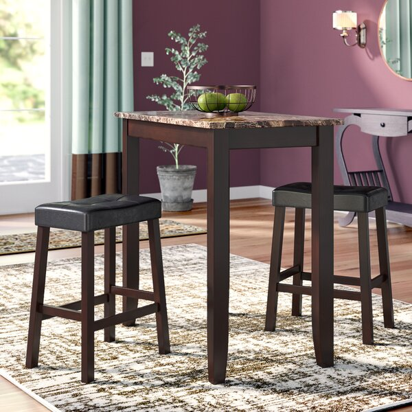 Daisy 3 Piece Pub Table Set by Andover Mills