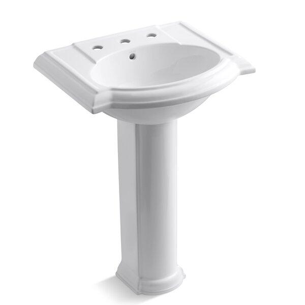 Devonshire Ceramic 25 Pedestal Bathroom Sink with Overflow by Kohler