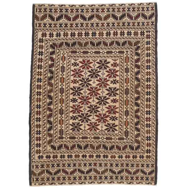Mcdonell Hand-Woven Cream Area Rug by Bloomsbury Market