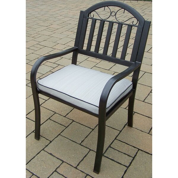 Lisabeth Patio Dining Chair with Cushion by Red Barrel Studio