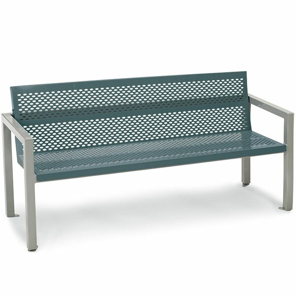 Element Steel Contour Garden Bench by Anova