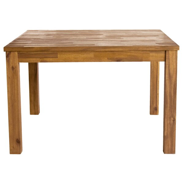 Yokum Solid Wood Dining Table by Millwood Pines