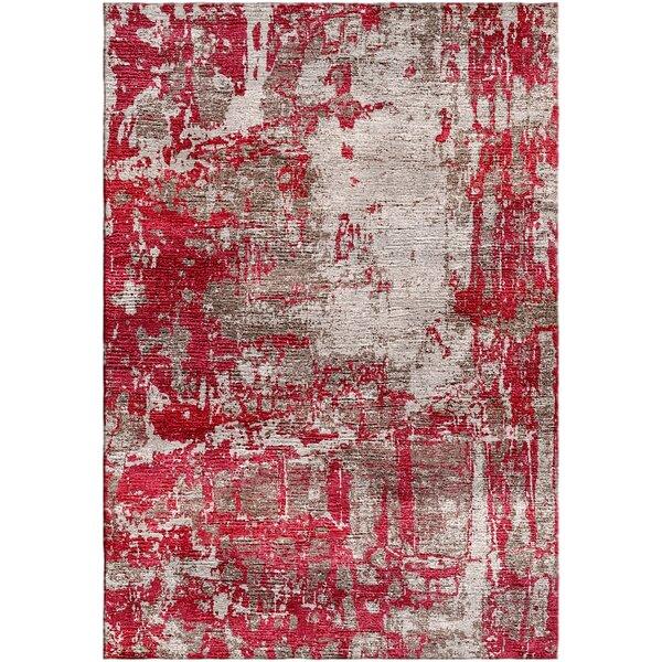 Ashford Handloom Red/Gray Area Rug by Ivy Bronx