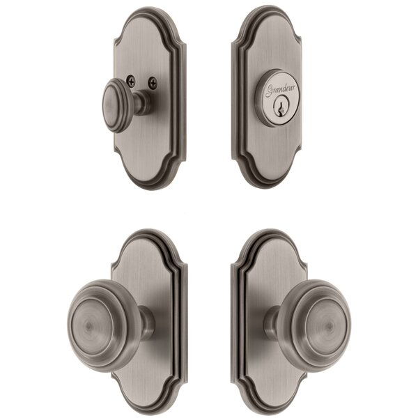 Arc Single Cylinder Knob Combo Pack with Circulaire Knob by Grandeur