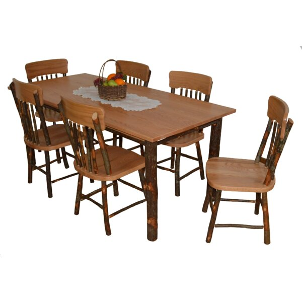 Wyton 7 Piece Solid Wood Dining Set by Loon Peak Loon Peak