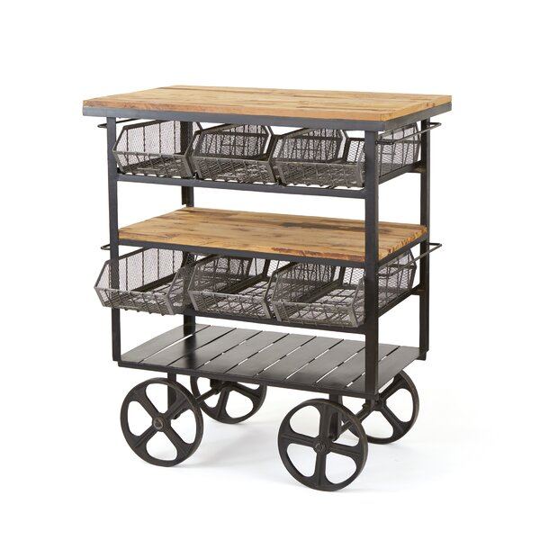 Kaydence Bar Cart by 17 Stories