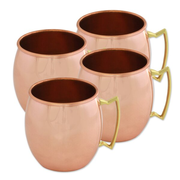 Laster 18 oz. Copper Mug (Set of 4) by Gracie Oaks