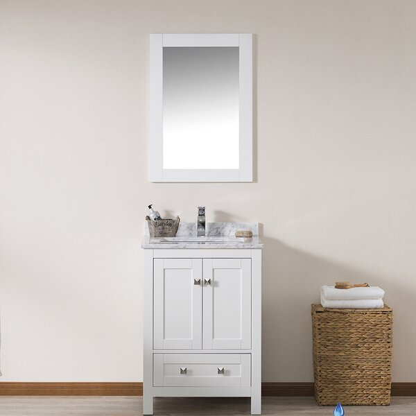 Brier 24 Single Bathroom Vanity Set with Mirror by Wrought Studio
