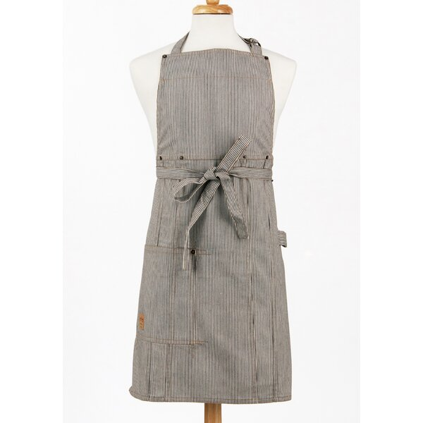 Railroad Stripe Denim Adult Butcher Apron by ASD L