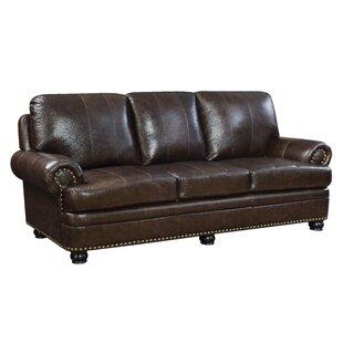 Alamosa Transitional Leather Sofa