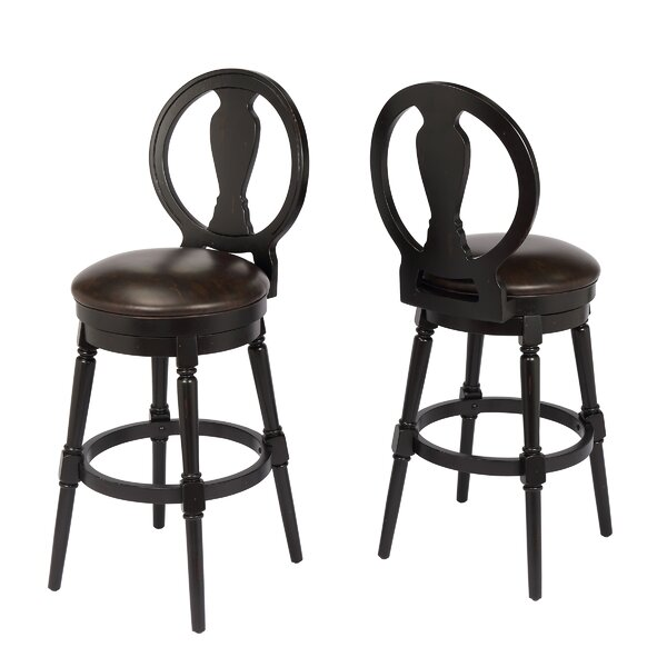 Hasse 29 Swivel Bar Stool by Alcott Hill