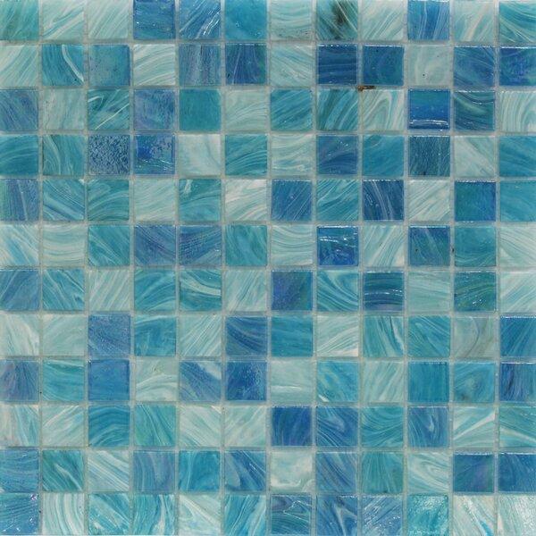 Aqua 1 x 1 Glass Mosaic Tile in Sky Blue by Splashback Tile
