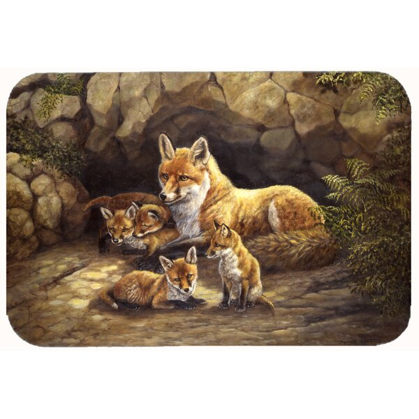 Family Foxes by the Den Kitchen/Bath Mat by East Urban Home