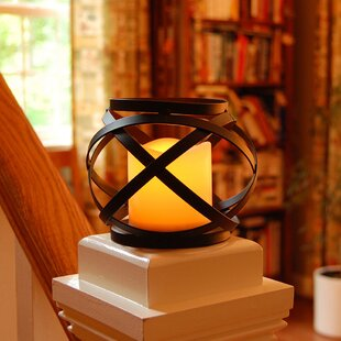 Compare prices Banded Design Metal Lantern By Williston Forge