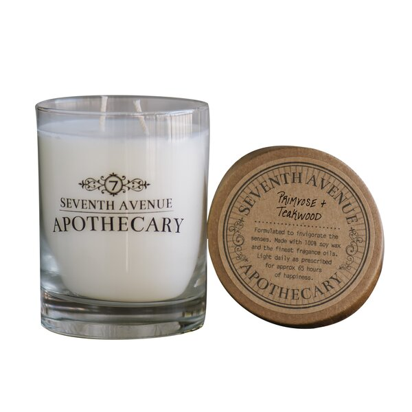 Primrose and Teakwood Soy Scented Jar Candle (Set of 3) by Seventh Avenue Apothecary