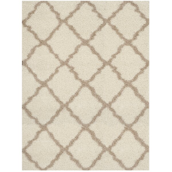 Shag Ivory/Beige Area Rug by Safavieh