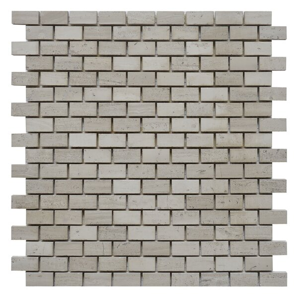 Brick 0.62 x 1.25 Marble Mosaic Tile in White Oak by Matrix Stone USA