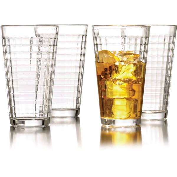 Hoboken 16 oz. Highball Glass (Set of 4) by ChargeIt! by Jay