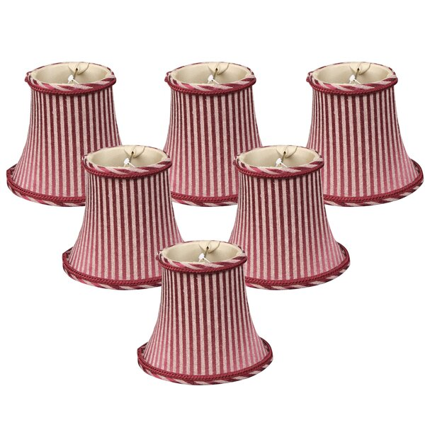6 Silk Bell Candelabra Shade (Set of 6) by Royal Designs