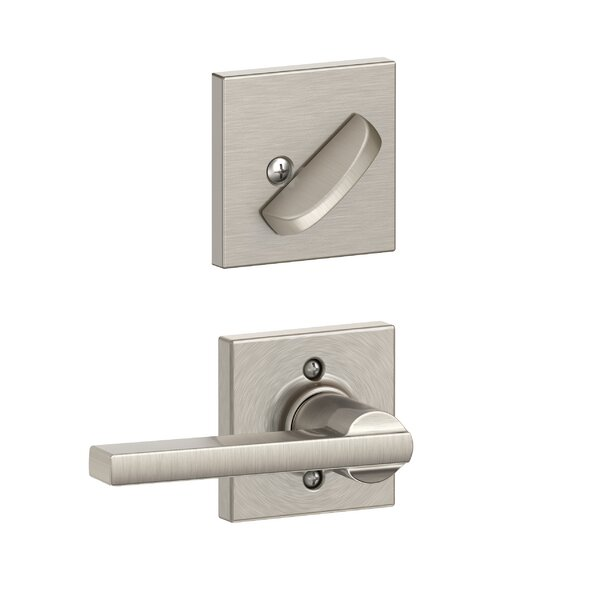 Interior Handleset Latitude Lever and Interior Single Cylinder Deadbolt Thumbturn with Collins Trim by Schlage