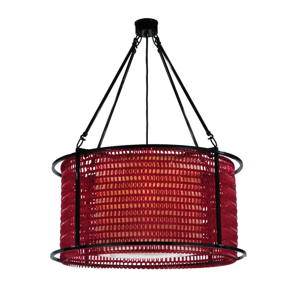 Maille 4-Light Candle Style Drum Chandelier By Meyda Tiffany