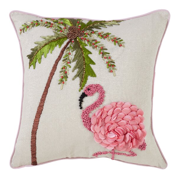 Clarkson Flamingo Throw Pillow by Bay Isle Home