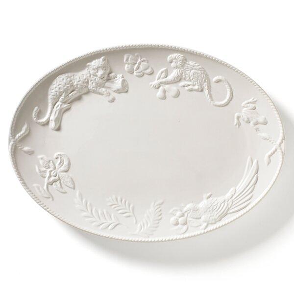 Jaguar Blanc Oval Platter by Lynn Chase Designs