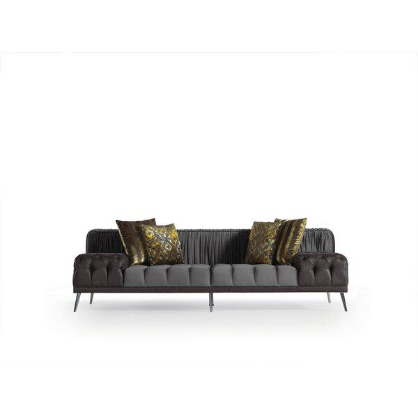 Marsboro 100'' Rolled Pillow Top Arm Sofa by Orren Ellis Orren Ellis