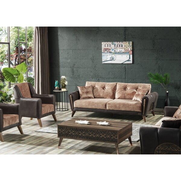 Yali Configurable 2-Piece Sleeper Living Room Set by Brayden Studio