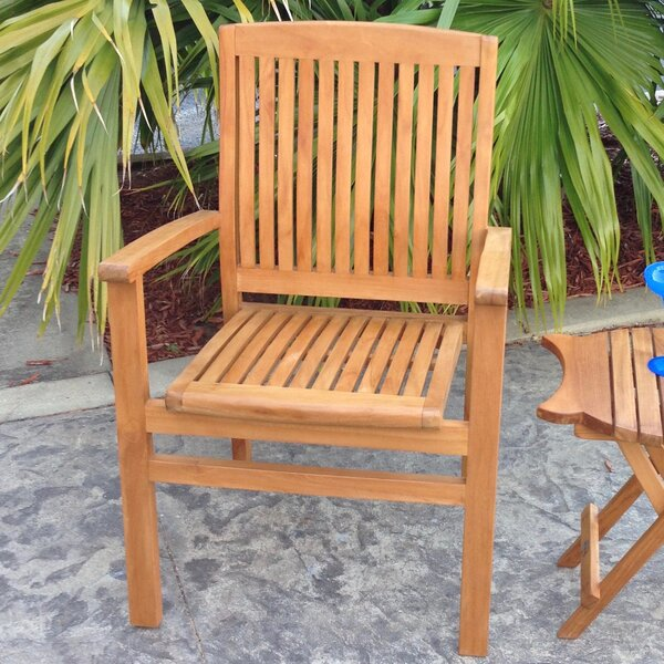 Greg Teak Patio Dining Chair By Bay Isle Home