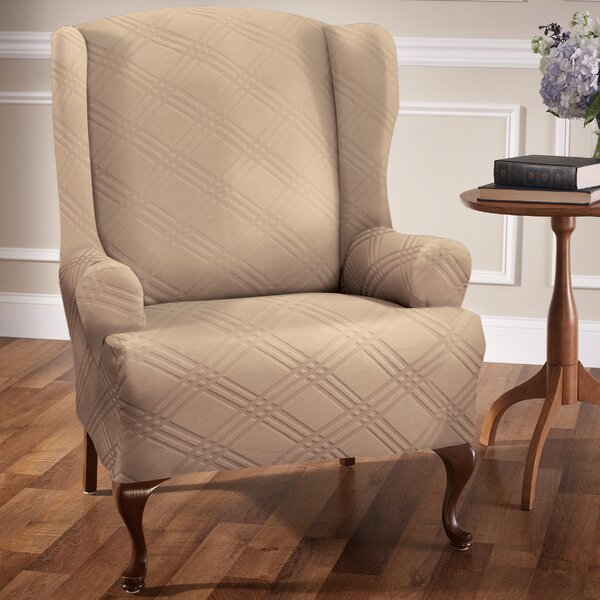 Compare Price Sensations T-Cushion Wingback Slipcover