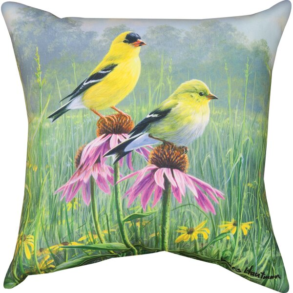 Finch Field Knife Edge Throw Pillow by Manual Woodworkers & Weavers