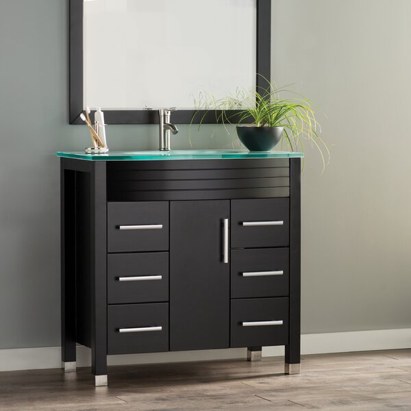 Prall Modern 36 Single Sink Bathroom Vanity Set with Mirror by Orren Ellis