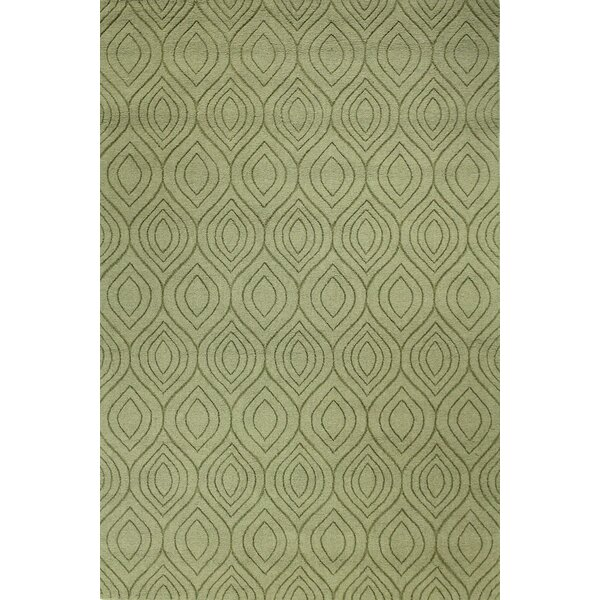 Orion Hand-Woven Light Green Area Rug by Mercury Row