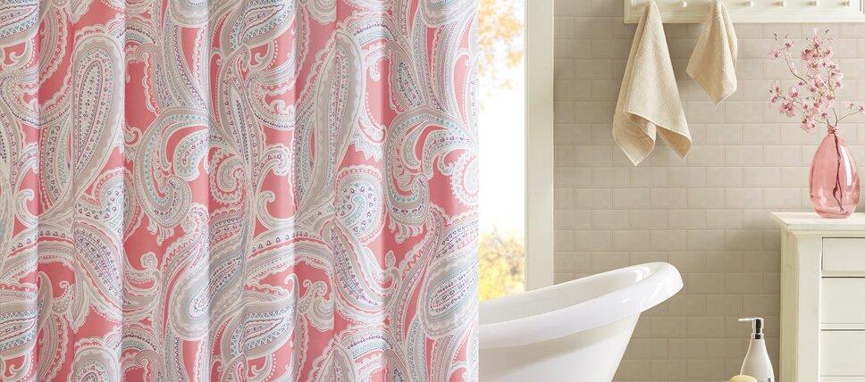 Shower Curtains Accessories Youll Love Wayfair - Bathroom shower curtains and window curtains for bathroom decor ideas
