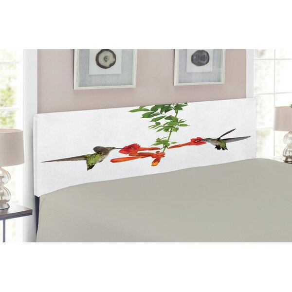 Hummingbirds Upholstered Panel Headboard by East Urban Home